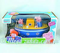 Игровой набор кораблик Свинка Пеппа/Peppa Pig: 4 фигурки в комплекте