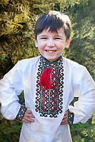 """Детская рубашка для мальчика """"Вышиванка 2"""" (красный)"""