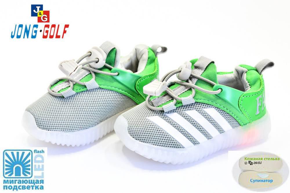 Летние детские кроссовки для мальчика с подсветкой, 21-26