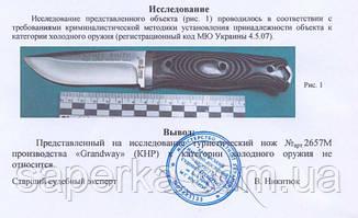 Нож многоцелевой с отверстием для темляка Grand Way 2657 M, фото 3