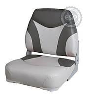 Кресло сиденье серо-белое для лодки и катера Premium Folding Seat