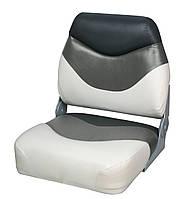 Кресло сиденье серо-черно-белое для лодки и катера Premium Folding Seat