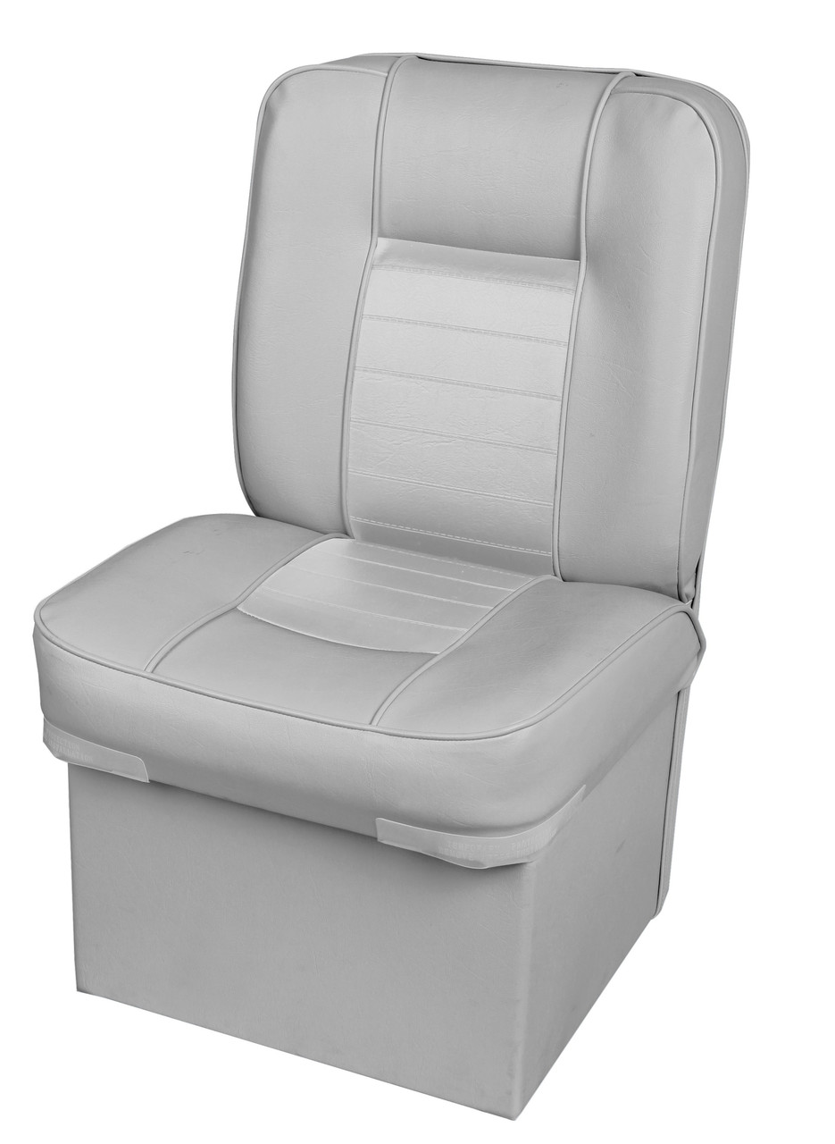 Кресло сиденье серое с тумбой для лодки и катера Premium Jump Seat 86205G