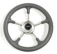 Рулевое колесо 32 см Pretech GS нержавейка и серый пластик