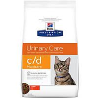 Hills Prescription Diet Feline c/d Urinary Care (кошки) с курицей 1,5кг  (9185)