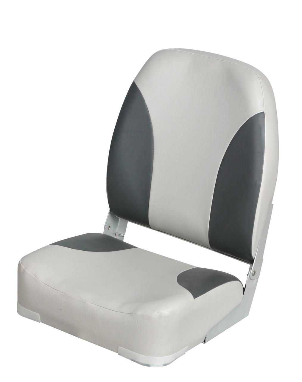 Сиденье складное для лодки и катера серо-чёрное Deluxe Highback 86201G/C