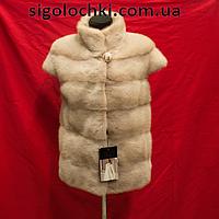 Меховая жилетка из норки 65 см