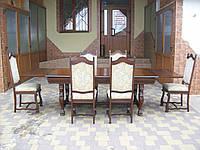Стіл столовий,розкладний + 6 стільців (2603)