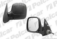 Зеркало левое черн механ 96-08 PEUGEOT Partner / CITROEN Berlingo Polcar