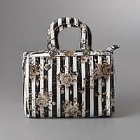 Женская сумка полосатая кожа змеи