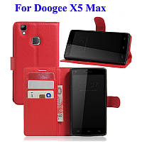 Чехол книжка для Doogee X5 MAX / Max Pro красный