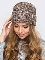 Тёплая шапка для девочки (ок.гол. 52-55 см)