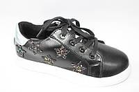 Модные туфли для девочки подростка Черный, 32-37