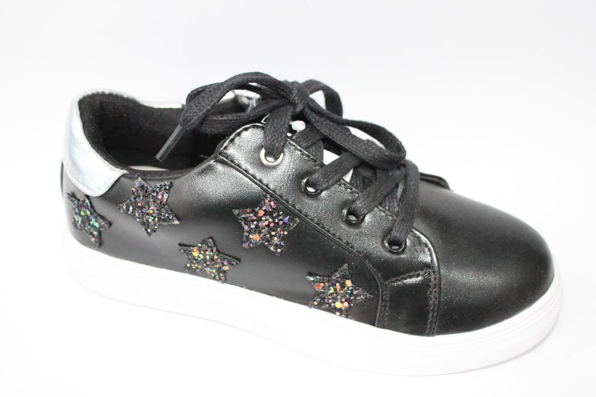 Модные туфли для девочки подростка Черный, 32-37 34