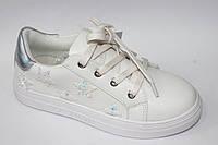 Модные туфли для девочки подростка Белый, 32-37
