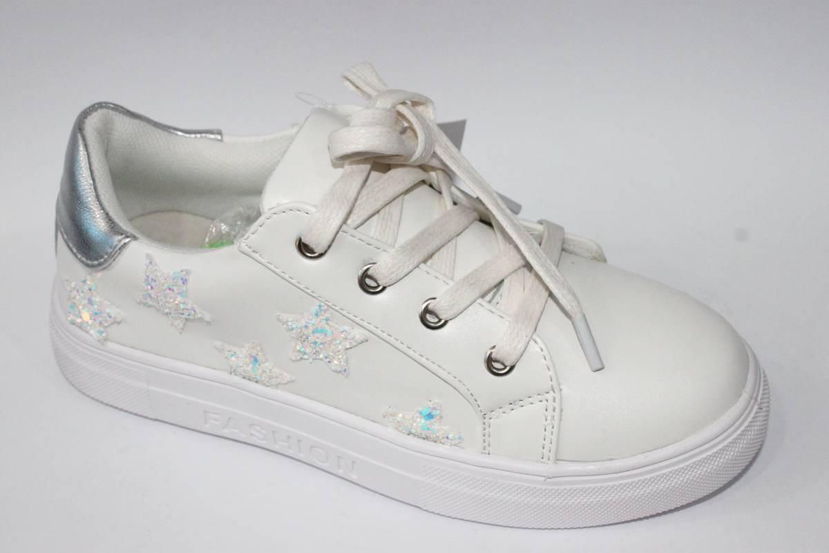 Модные туфли для девочки подростка Белый, 32-37 34