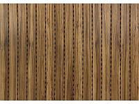 Зебрано Натуральный шпон зебрано Акустическая перфорированная панель на основе MDF Decor Acoustic