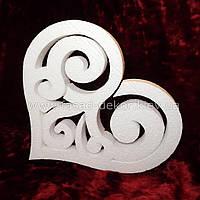 Сердце фигурное из пенопласта -30 см