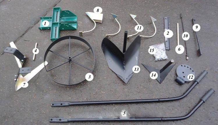 Землероб - культиватор ручний , універсальний , 5 в 1 , пр-во р. Вінниця, фото 2