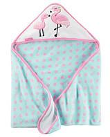 Полотенце с уголком Фламинго Carter's