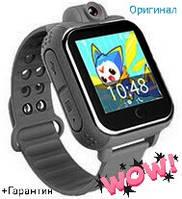 Умные детские часы Q200 Black с GPS трекером(+Гарантия)