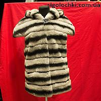 Меховая жилетка из шиншиллы 70 см