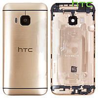 Задняя панель корпуса для HTC One M9, золотистая, оригинал