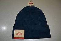Шапка  Levis Men's Waffle Beanie with 2x1 Rib Cuff navy