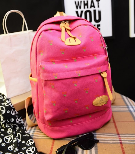 Рюкзак женский городской Вишенка Розовый