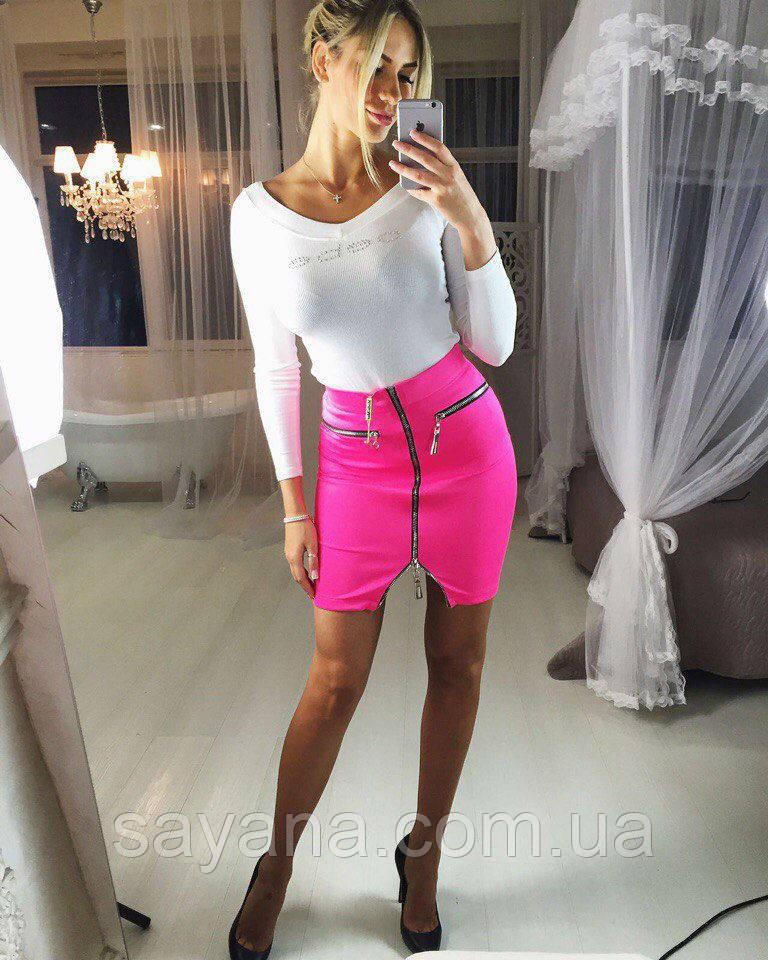 Женская стильная короткая юбка (расцветки)