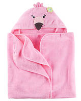 Полотенце с уголком Розовый фламинго Carter's Flamingo Hooded Towel