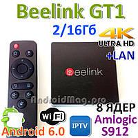Beelink GT1 Amlogic S912 ТВ бокс 8 ядер 2/16Gb Android 6.0