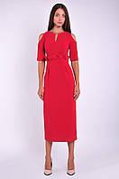 Женское платье красное платье миди, фото 1