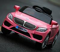 Детский электромобиль BMW M 3270 EBLR-8 с кожаным сиденьем, на резиновых колёсах, розовый***