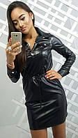 Стильная женская рубашка с пояском к-3413277
