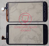 Сенсорний екран для смартфону Alcatel One Touch 7047d, тачскрін, чорний
