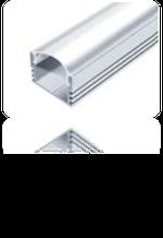 LED-профиль алюминиевый 16х12 мм (ЛП-12)  без покрытия.