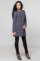 Женское пальто весна-осень Париж, серая клетка, 4 размера