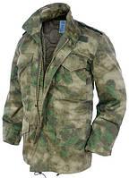 Куртка с тёплой подстежкой MilTec M65 A-Tacs FG 10315059
