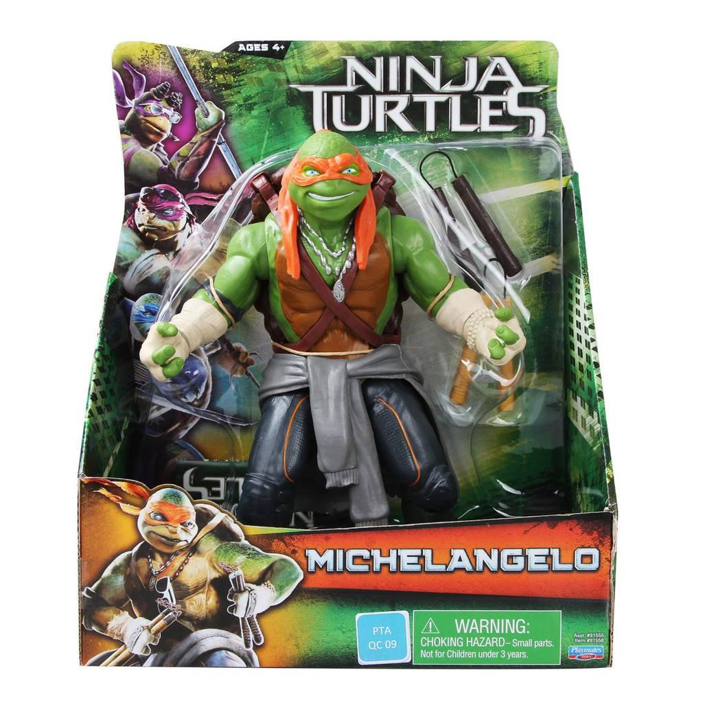 Большая фигурка Микеланджело 27см из к\ф 2014 года  - Michelangelo, TMNT2014, 11 Inch, Playmates