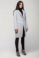 Женское пальто весна-осень Mirey, светло-серый меланж, 4 размера
