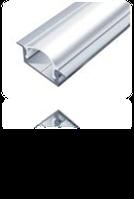 LED-профиль алюминиевый 16х7 мм (с ушками)(без покрытия)