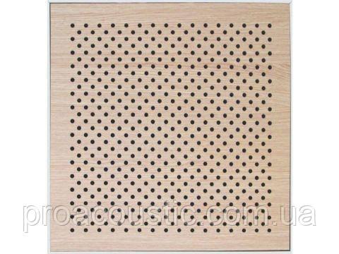 Акустическая перфорированная панель на основе MDF Дуб белый 16/16/10 Ch