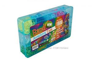 Резинки для плетения браслетов rainbow loom bands 1800 набор кейс станок