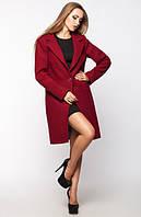 Женское пальто весна-осень Mirey, бордовое, 4 размера