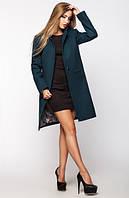 Женское пальто весна-осень Mirey, бутылочное, 4 размера