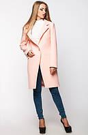 Женское пальто весна-осень Mirey, персиковое, 4 размера