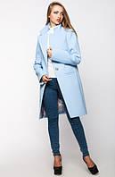 Женское пальто весна-осень Mirey ,голубое, 4 размера