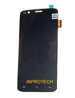 Дисплей (LCD) Fly IQ4409 Quad ERA Life 4 (DJN 15-22391-42501) с сенсором (тачскрином) Black Original