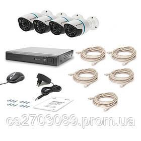 Комплект видеонаблюдения Tecsar IP 4OUT